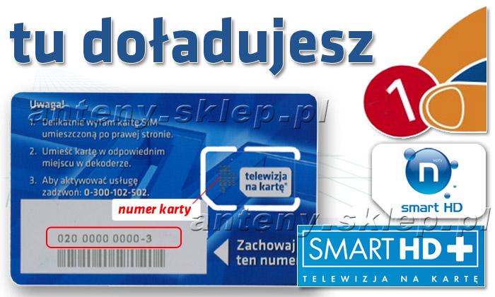 telewizja na karte doładowanie doładowanie karty SMART HD+ na okres 12 m cy na pakiet podstawowy